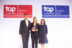 David Plink CEO Top Employer Institute,  Joanna Augustynowicz i Edyta Smulska, DHL Express.
