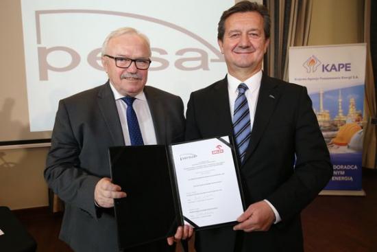 PKN ORLEN i Pesa Bydgoszcz nawiązują współpracę przy technologii wodorowej