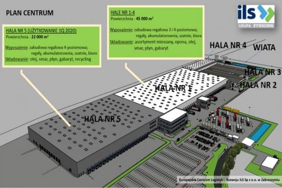 Europejskie Centrum Logistyki i Rozwoju ILS w Zakroczymiu zwiększa swoją powierzchnię