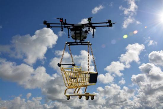 Drony policzą produkty w sklepach