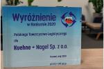 Program środowiskowy Net Zero Carbon wyróżniony w konkursie o Nagrodę Polskiego Towarzystwa Logistycznego 2020