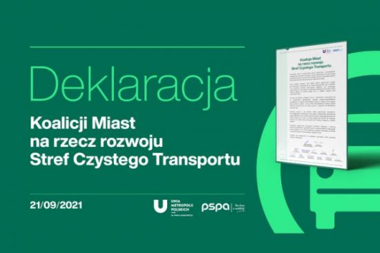 Deklaracja polskich samorządów na rzecz rozwoju Stref Czystego Transportu