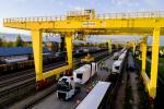 Pierwszy transport naczep pociągiem na trasie Niemcy - Polska - Litwa